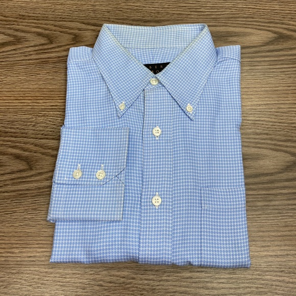 Robert Talbott Blue & White Check Shirt 16.5-34